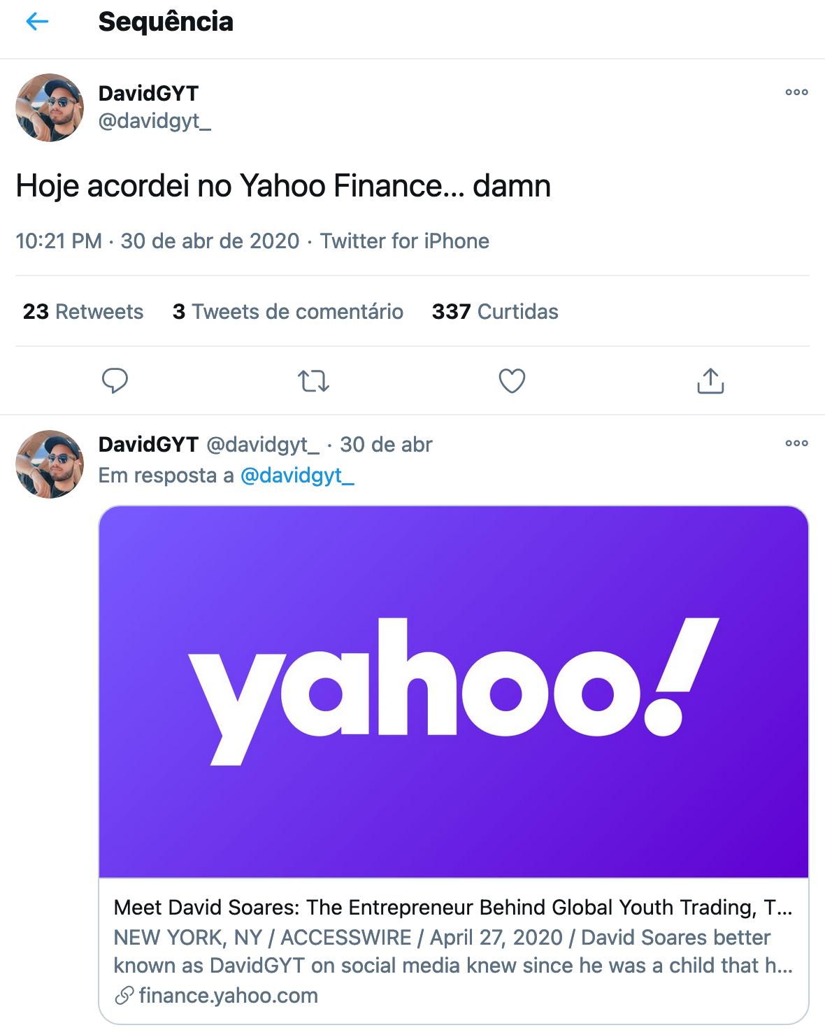 tweet DavidGYT