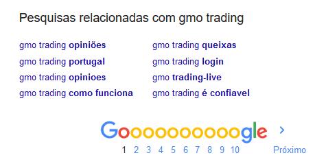 Pesquisas da fraude GMO Trading e ROInvesting