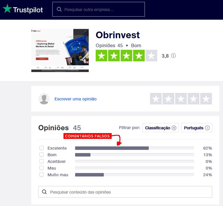 Trustpilot da OBRinvest